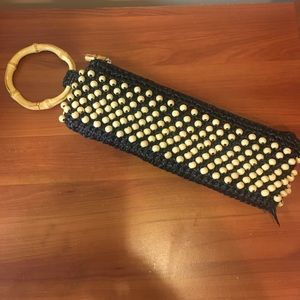 Coldwater Creek Bamboo Beaded Purse